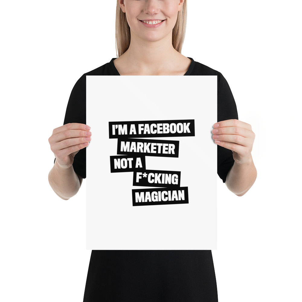 I'M A FB MARKETER Poster Black