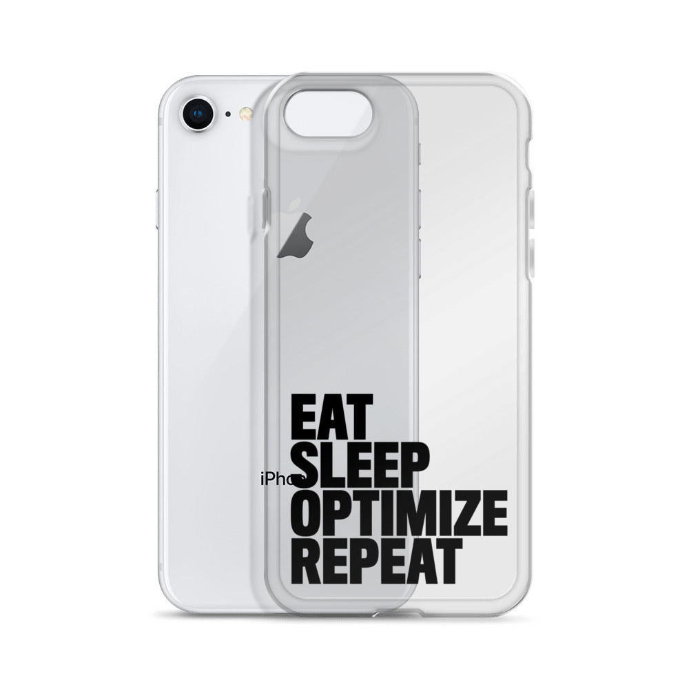 EAT SLEEP iPhone Case Black