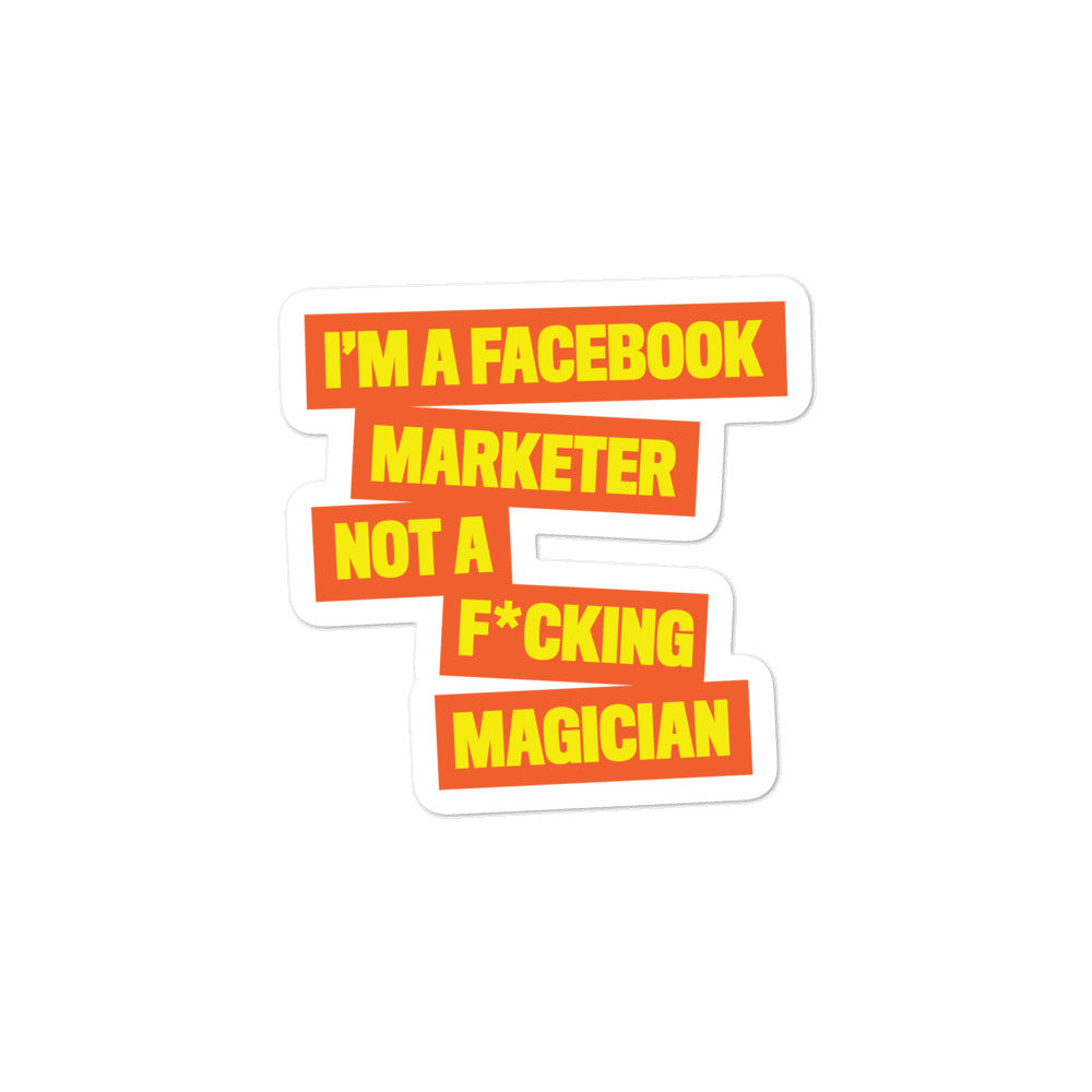 FB MARKETER Sticker Orange