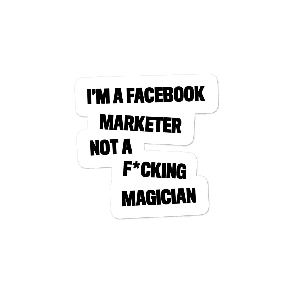 FB MARKETER Sticker White