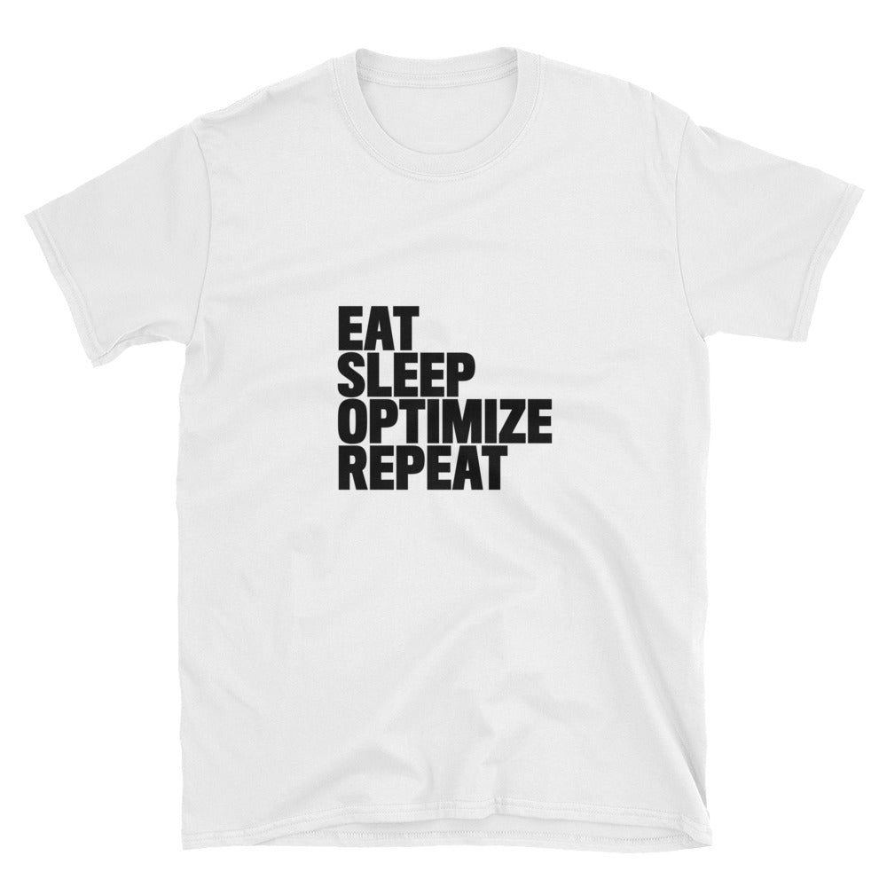EAT SLEEP OPTIMIZE REPEAT Heavy Cotton Unisex T-Shirt