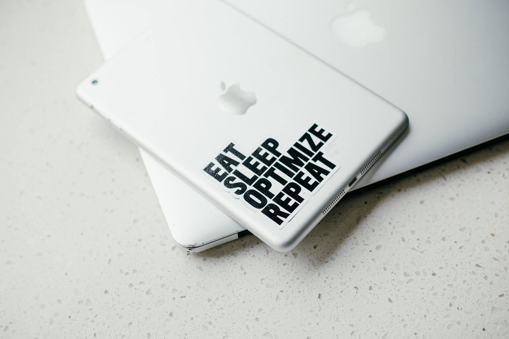 Eat Sleep Optimize Repeat Sticker