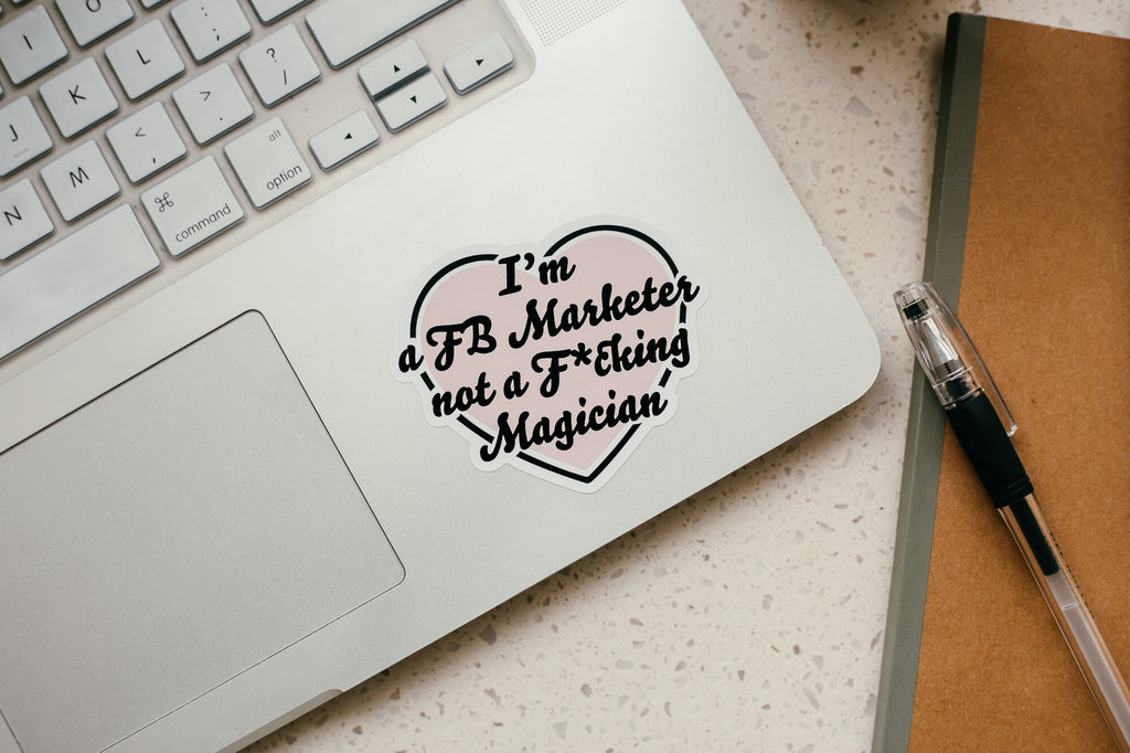 I Heart you FB Marketer Sticker