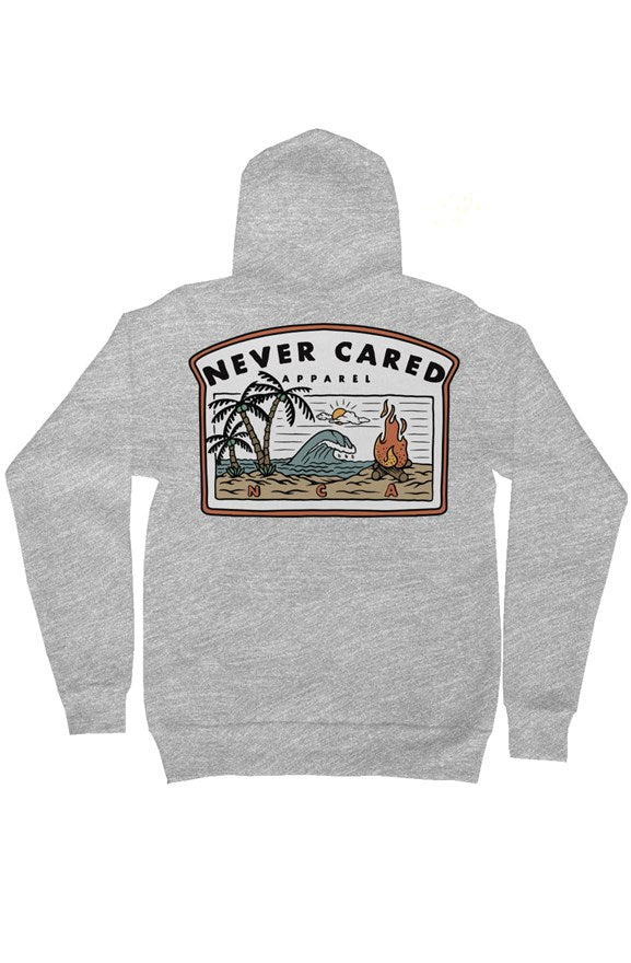 Never Cared Summer Zip Hoodie