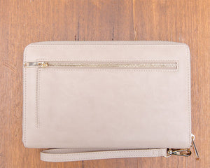 Large Purse: Taupe / Cream (Gold features) Lilly C  lilly-c.myshopify.com