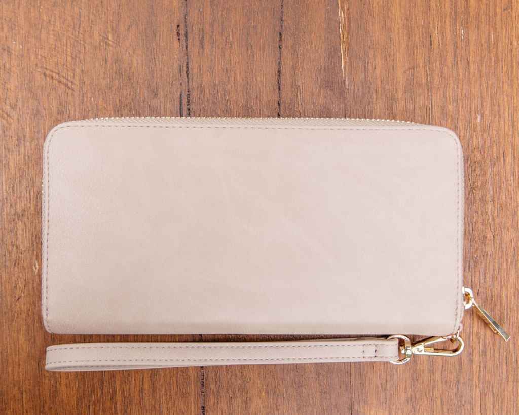 Small Purse: Taupe / Cream (Gold features) Lilly C  lilly-c.myshopify.com