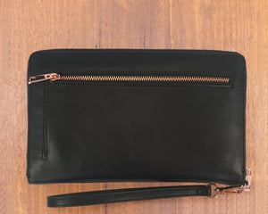 Large Purse: Black / Patent Black (Rose Gold features) Lilly C  lilly-c.myshopify.com