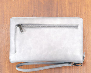 Large Purse: Light Grey / Silver (Silver features) Lilly C  lilly-c.myshopify.com