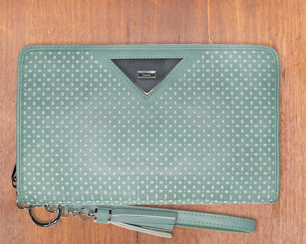 Large Purse: Seafoam (Silver features) Lilly C  lilly-c.myshopify.com