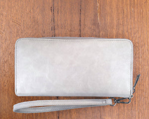Small Purse: Light Grey / Silver (Silver features) Lilly C  lilly-c.myshopify.com
