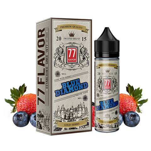 Image of Gold Series 77 Flavor Blue Diamond E-Juice - Flava Hub