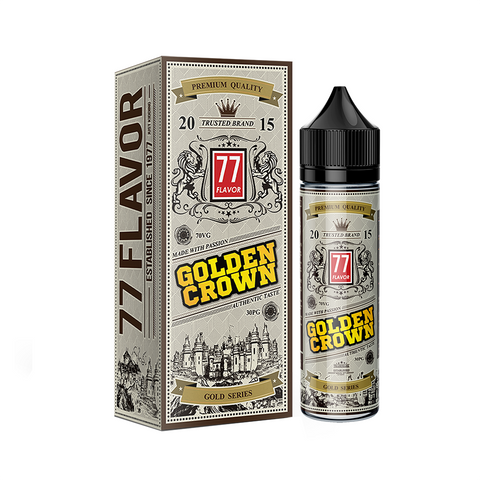 Image of Gold Series 77 Flavor Golden Crown E-Juice - Flava Hub