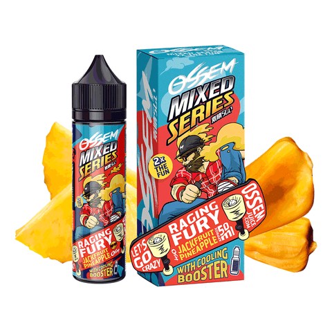 Image of OSSEM RAGING FURY Jackfruit Pineapple E-Juice - Flava Hub