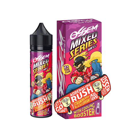 OSSEM ADRENALINE RUSH Strawberry Blackcurrant E-Juice - Flava Hub