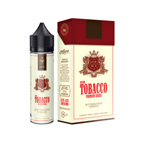 Image of OSSEM Butterscotch Tobacco Premium Series E-Juice - Flava Hub