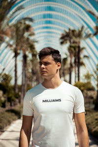 MILLIAMS T-shirt White (slim-fit)