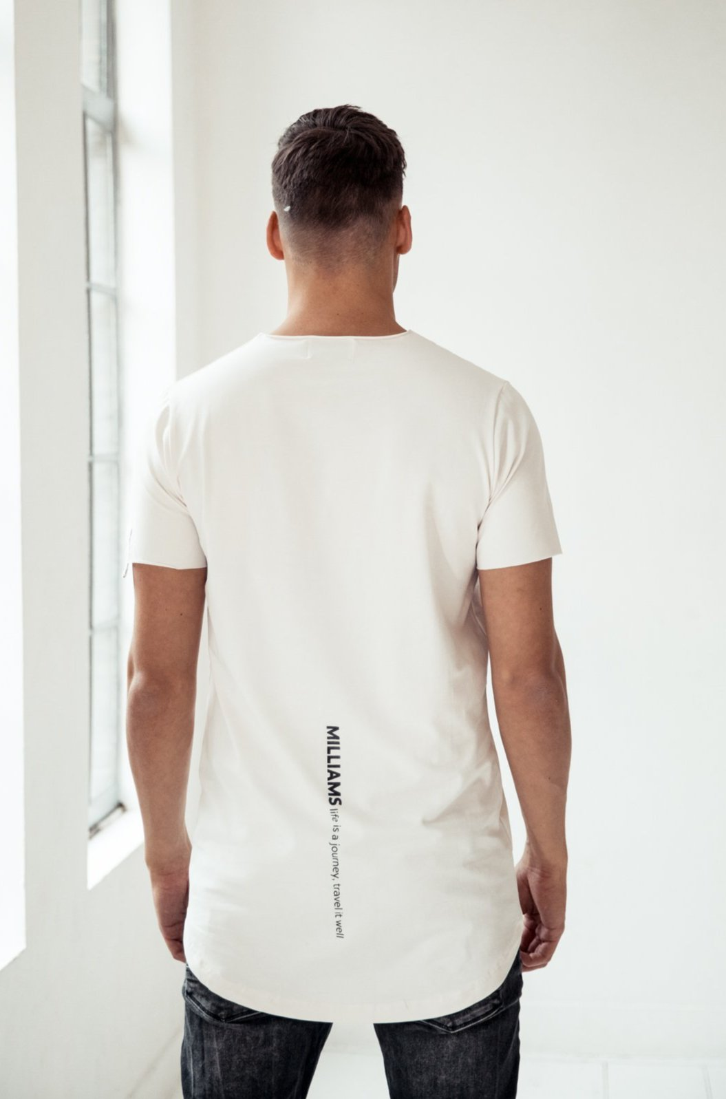 MILLIAMS T-shirt white, (slim-fit)