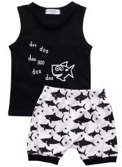 """Baby Shark"" 2pcs Sleeveless Short Set"