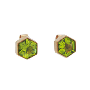 Peridot Set Stud Earrings