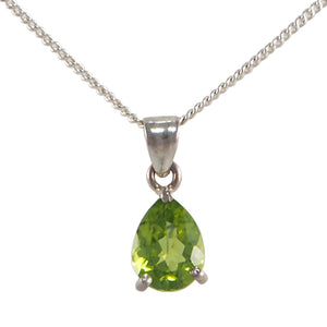 Peridot Set Pendant & Chain