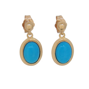 Turquoise Set Drop Earrings