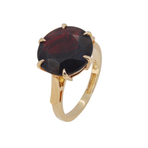 Garnet Set Single Stone Ring