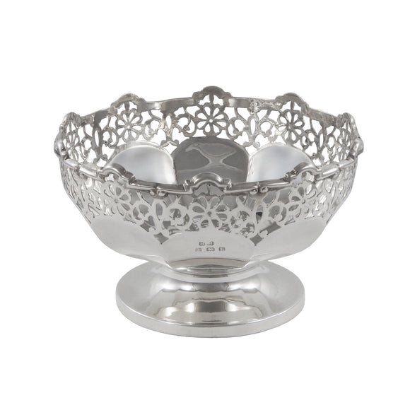 An early 20th century, silver, circular sweet dish