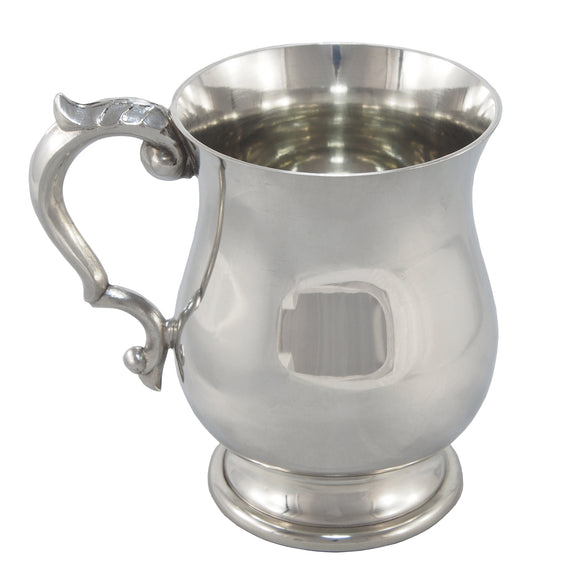 A modern, pewter, one pint tankard