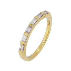 A modern, 18ct yellow gold, diamond set half eternity ring