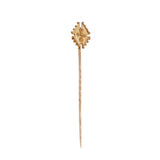 An early 20th century, yellow gold, abstract stick pin