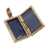 A modern, 9ct yellow gold, engraved, rectangular locket