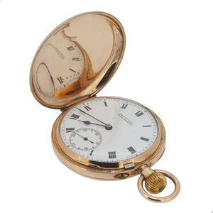 An early 20th century, 9ct yellow gold, hunter pocket watch