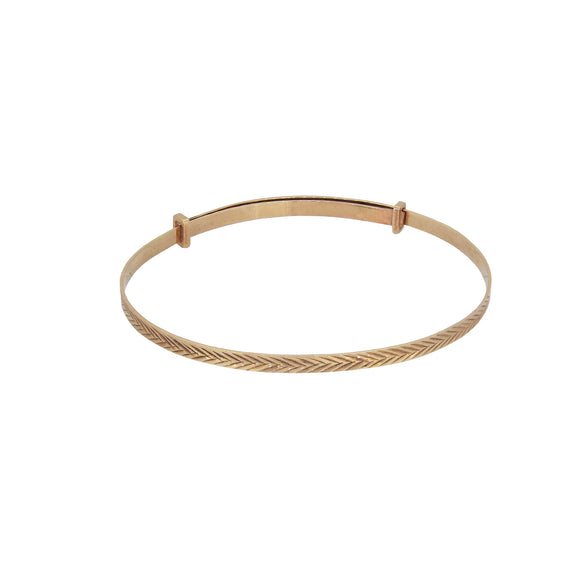A modern, 9ct yellow gold, child's expanding bangle