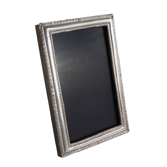 An early 20th century, silver, rectangular photograph frame