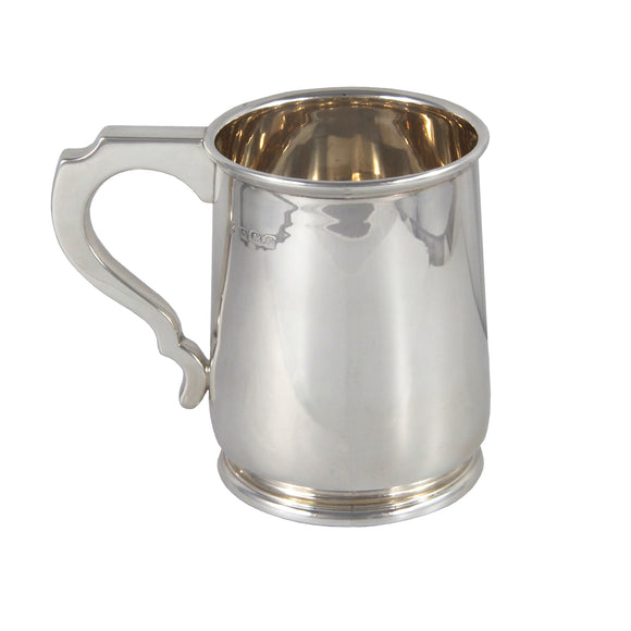 An early 20th century, silver, one pint tankard