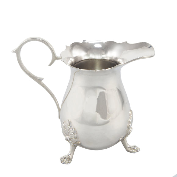 A modern, silver, James Pattern cream jug
