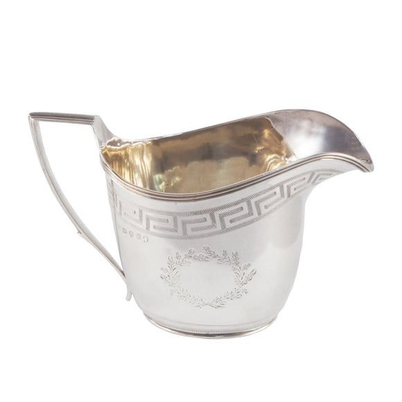 A Georgian, silver cream jug
