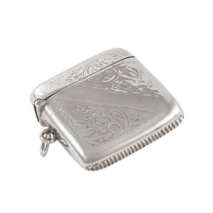An Edwardian, silver vesta case