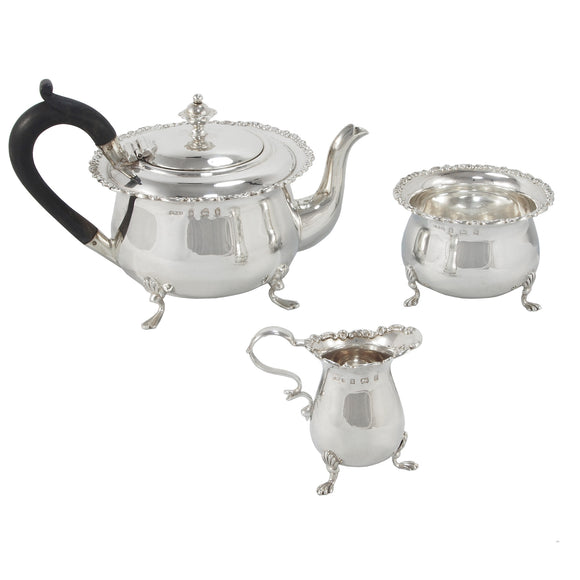 An Edwardian, silver, Bachelor tea set