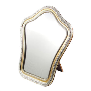 A modern, silver & parcel-gilt dressing table mirror