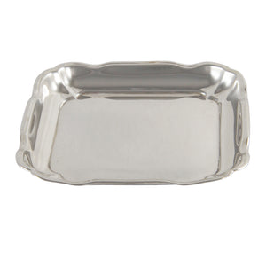 An Edwardian, silver, square pin tray