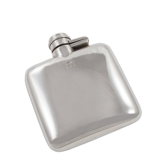 An Edwardian, silver hip flask