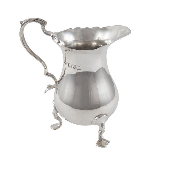 An early 20th century, silver cream, jug