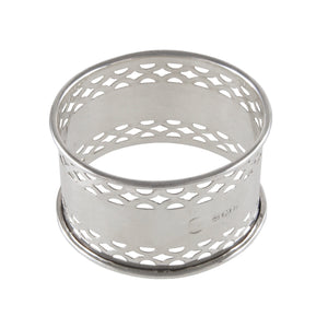 An early 20th century, silver, pierced napkin ring