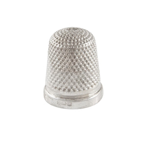 An early 20th century, silver thimble
