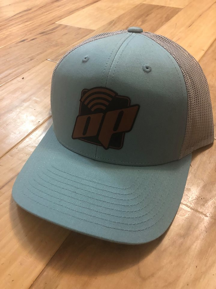 Light Blue With Leather OP patch hat