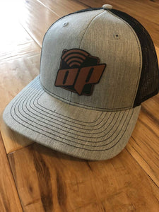 Light Gray W/Black Mesh OP Hat Richardson 112