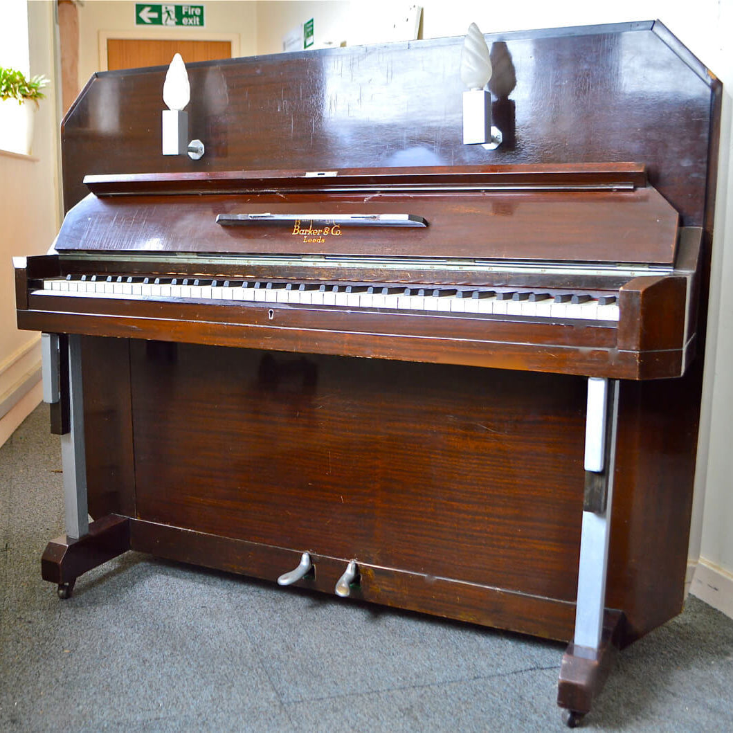 Barker & Co Art Deco Upright Piano Second Hand