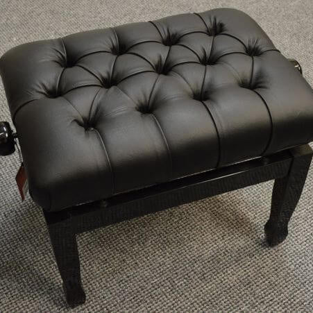 Black Concert Piano Bench