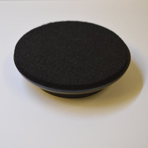 Black Plastic Castor Cups felt base